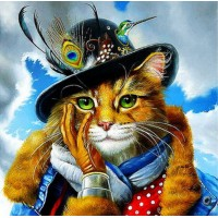 "Алмазная мозаика ""Чеширский кот"""