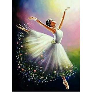 """Алмазная мозаика """"Цветочная балерина"""""""