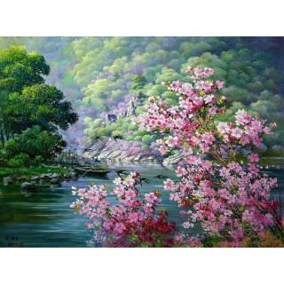 """Алмазная мозаика """"Цветущая весна"""""""