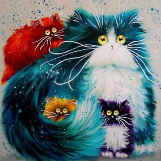 """Алмазная мозаика """"Коты"""""""