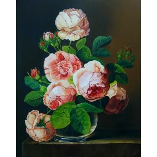 """Алмазная мозаика """"Розы в вазе"""""""
