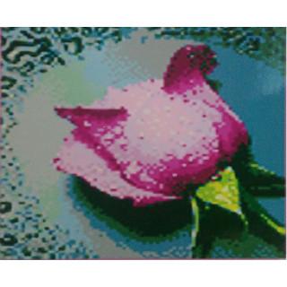 "Алмазная мозаика ""Розовая роза"""
