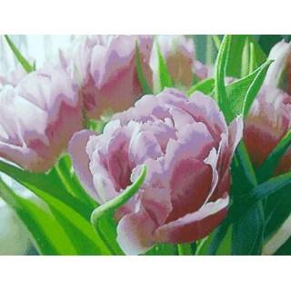 "Алмазная мозаика ""Розовые тюльпаны"""