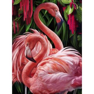 """Алмазная мозаика """"Розовый фламинго"""""""