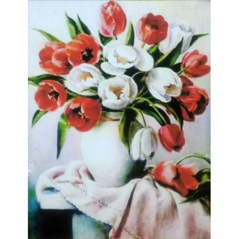 "Алмазная мозаика ""Тюльпаны в вазе"""