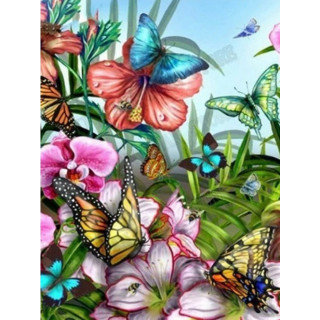 "Алмазная мозаика ""Яркие бабочки"""