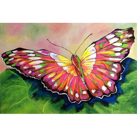 "Алмазная мозаика ""Акварельная бабочка"""