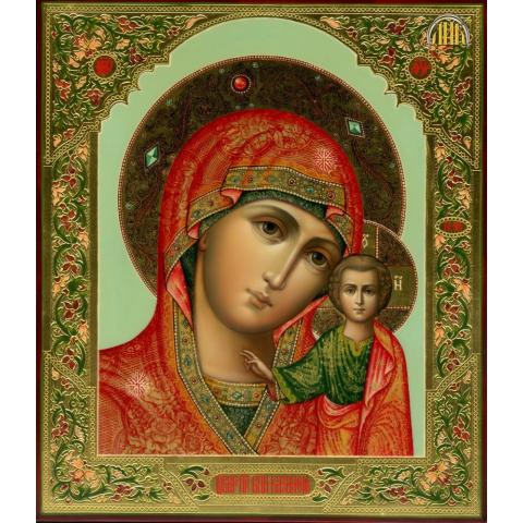 """Алмазная мозаика """"Икона Казанской Божьей Матери"""