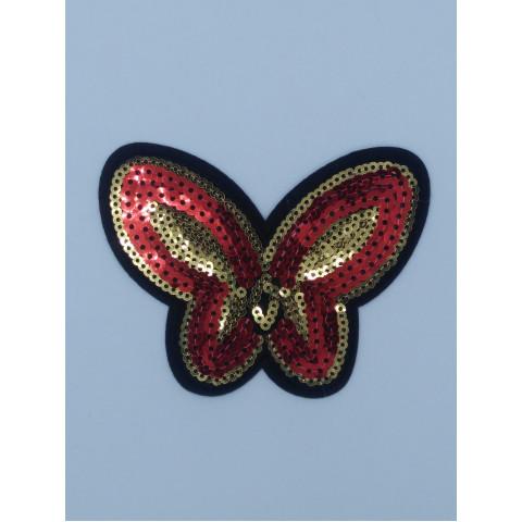 Термоаппликация  Бабочка пайетка