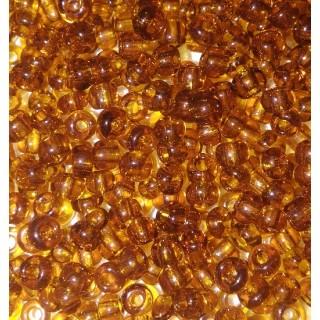 Бисер Китай, коричневый прозрачный