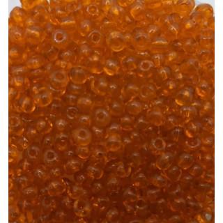 Бисер Китай, оранжевый прозрачный