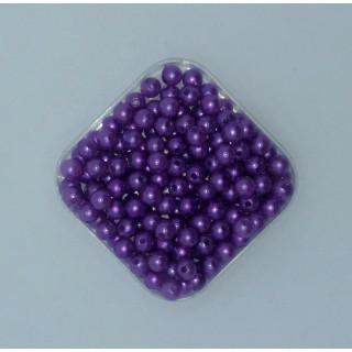 Бусины жемчуг фиолетовый 6 мм