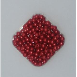 Бусины жемчуг красный 6 мм