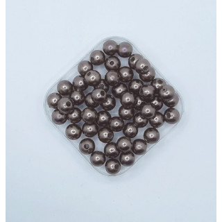 Бусины жемчуг шоколад 8 мм