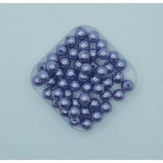 Бусины жемчуг светло-фиолетовый  8 мм