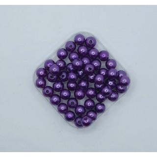 Бусины жемчуг темно-фиолетовый 8 мм