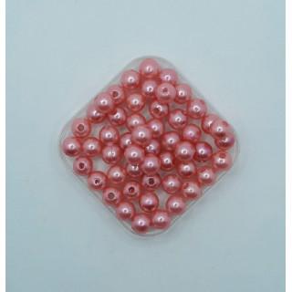 Бусины жемчуг темно-розовый 8 мм