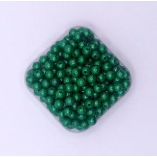 Бусины жемчуг зеленый 6 мм