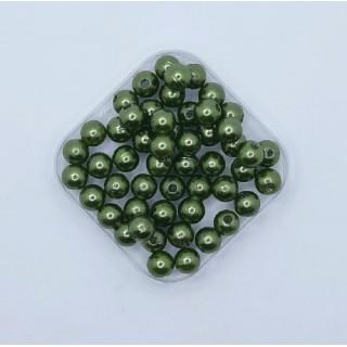 Бусины жемчуг зеленый 8 мм