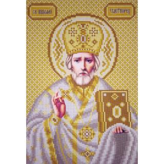 Икона - Святой Николай А4 - золото