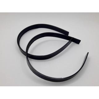 Ободок пластик черный 12 мм