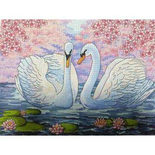 Лебеди и сакура