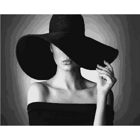 Картина по номерам - Дама в черном