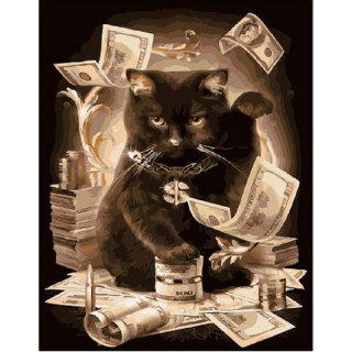 Картина по номерам - Денежный кот