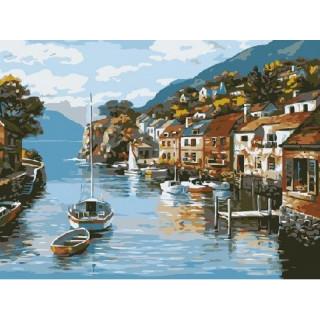 Картина по номерам - Залив у города