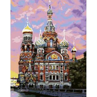 Картина по номерам - Храм Василия Блаженного