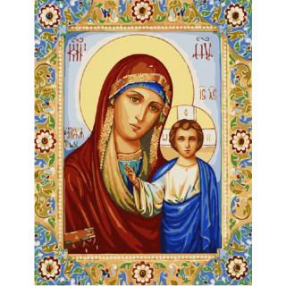 Картина по номерам - Казанская Икона