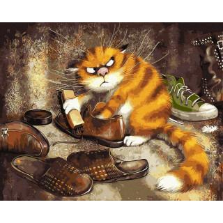 Картина по номерам - Добрый кот