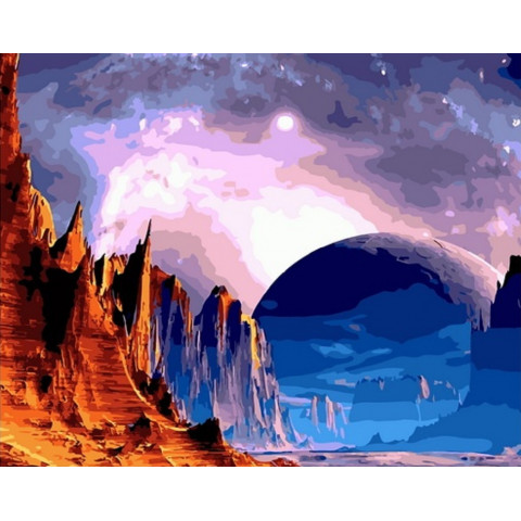 Картина по номерам - Лунный пейзаж