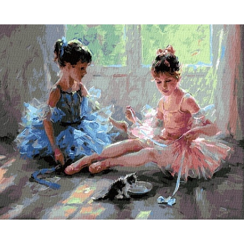 Картина по номерам - Маленькие балерины
