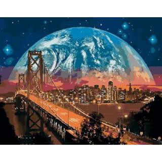 Картина по номерам - Ночной город