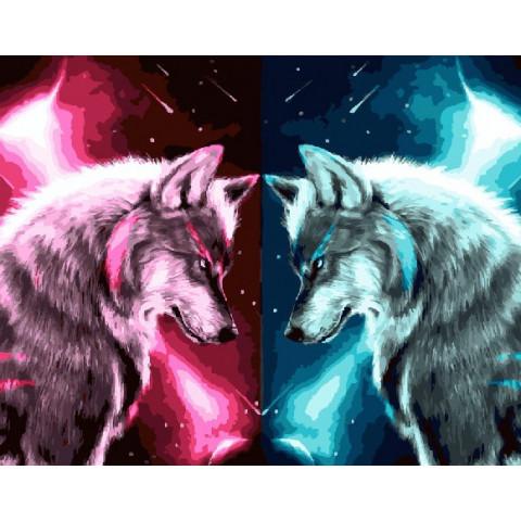 Картина по номерам - Звездные волки