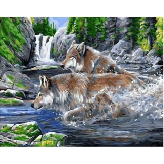 Картина по номерам - Погоня через реку