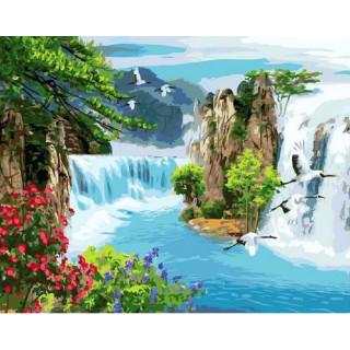 Картина по номерам - Потрясающие водопады