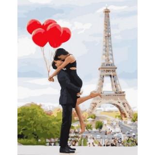 Картина по номерам - Романтика в Париже
