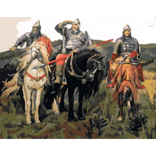 Картина по номерам - Три богатыря