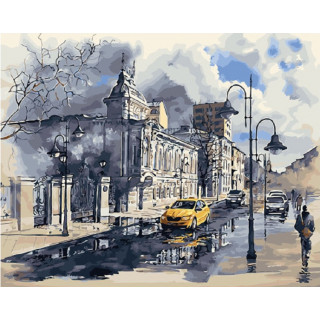 Картина по номерам - Улица после дождя