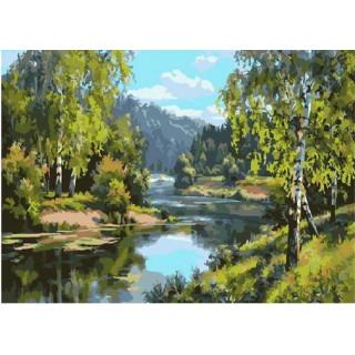 Картина по номерам - У реки