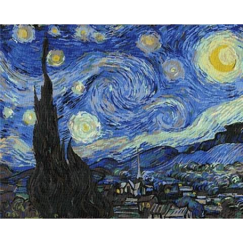 Картина по номерам - Звездная ночь Ван Гог