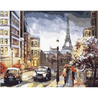 Картина по номерам - Парижская улица