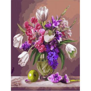 Картина по номерам - Весенние цветы
