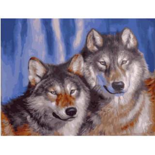 Картина по номерам - Волки пара