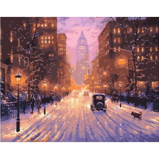 Картина по номерам - Заснеженная улица