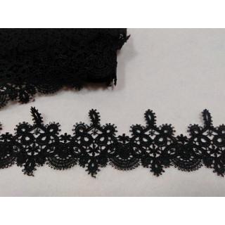 Кружево макраме 5,5 см, черный