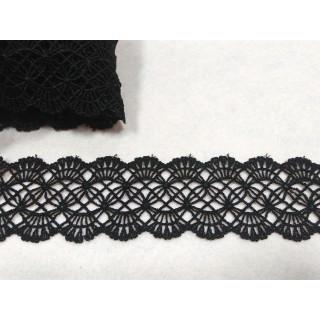 Кружево плетеное 5,0 см, черный