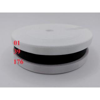Лента атласная 0,5 см - белая, черная